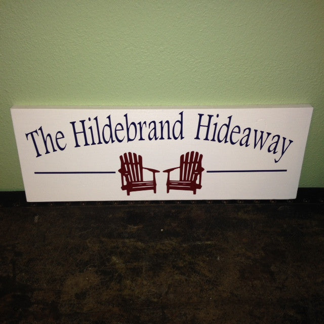 Personalized Lake house Sign Hideaway