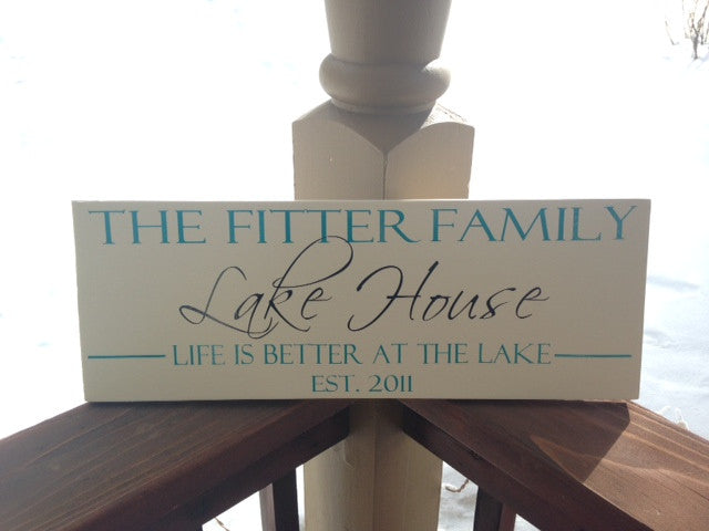 Personalized Lake house sign with Established Date
