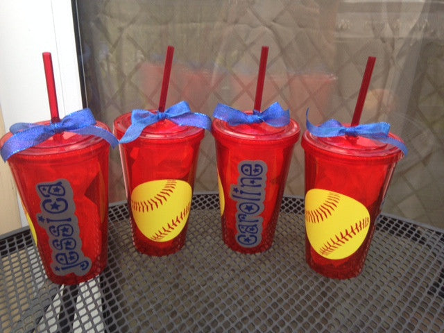 Personalized Softball Tumbler Team gifts