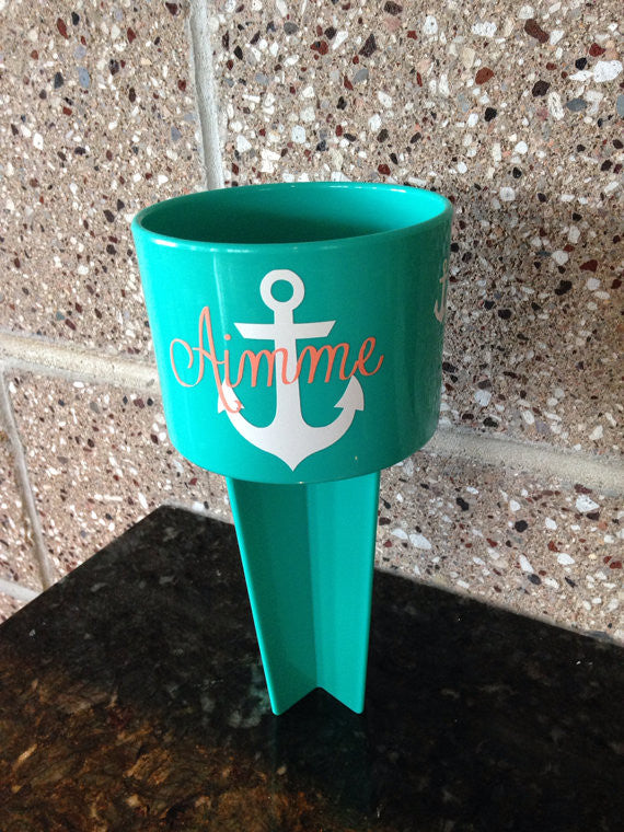 Personalized Spiker Beach Cupholder Anchor