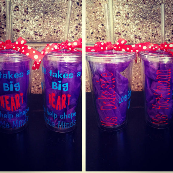 Personalized Tumbler Preschool teacher gift
