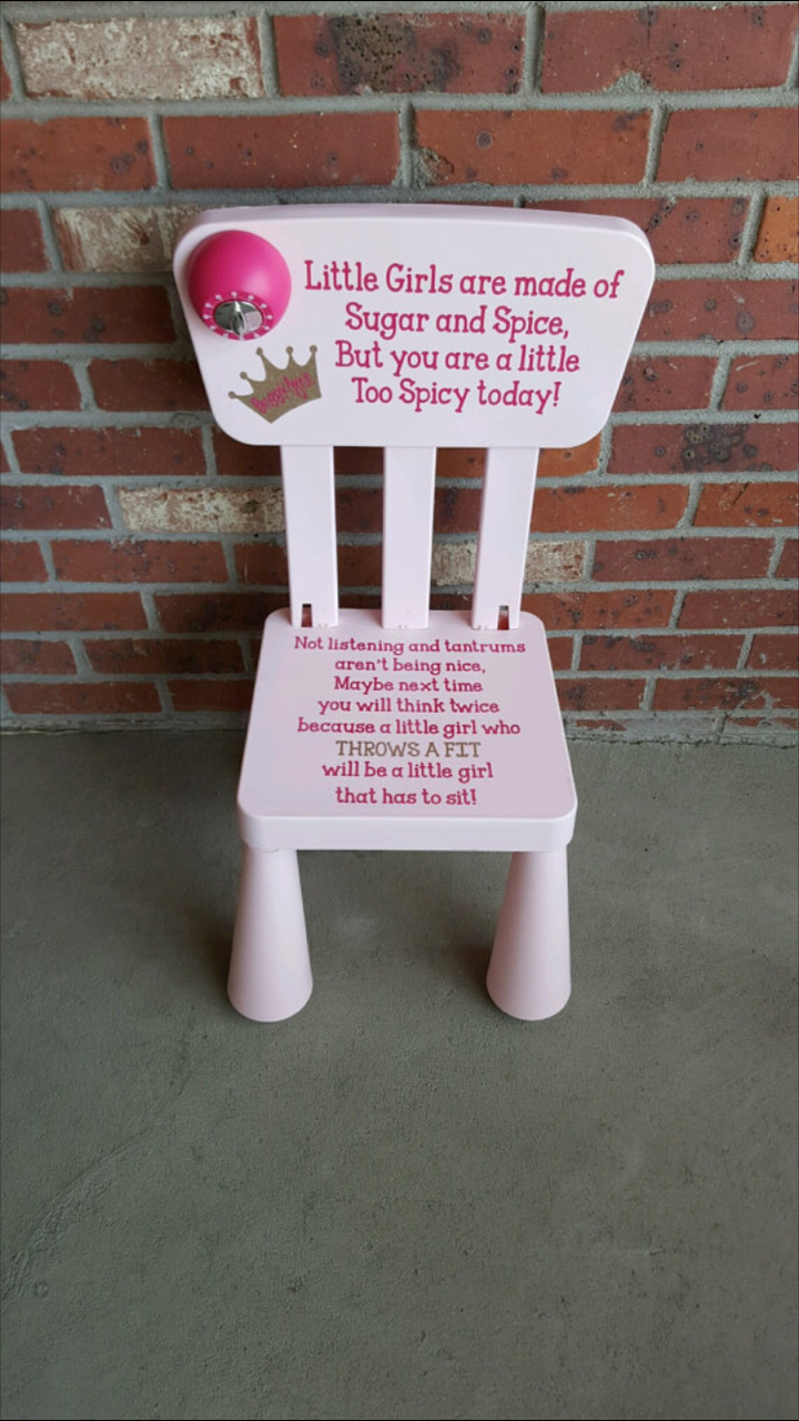 Personalized Sugar and Spice Too Spicy Time Out Chair with Timer