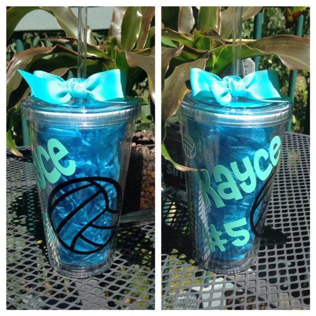 Personalized Team Sports Tumblers Volleyball