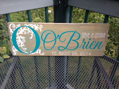 Personalized Family Wedding Anniversary Sign