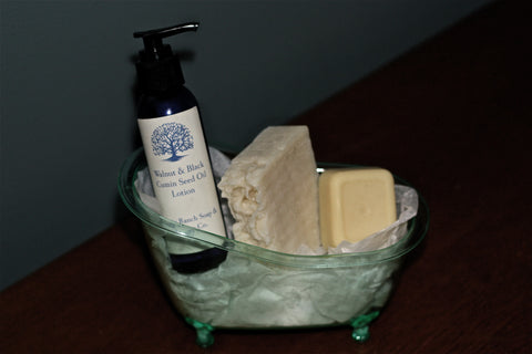 Walnut Black Cumin Seed Oil Lotion, Shea Butter Moisturizing Cleansing Bar & -40 Lotion Bar