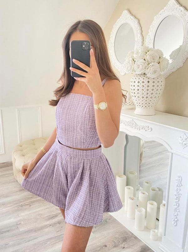 Lilac Tweed 3 Piece Set