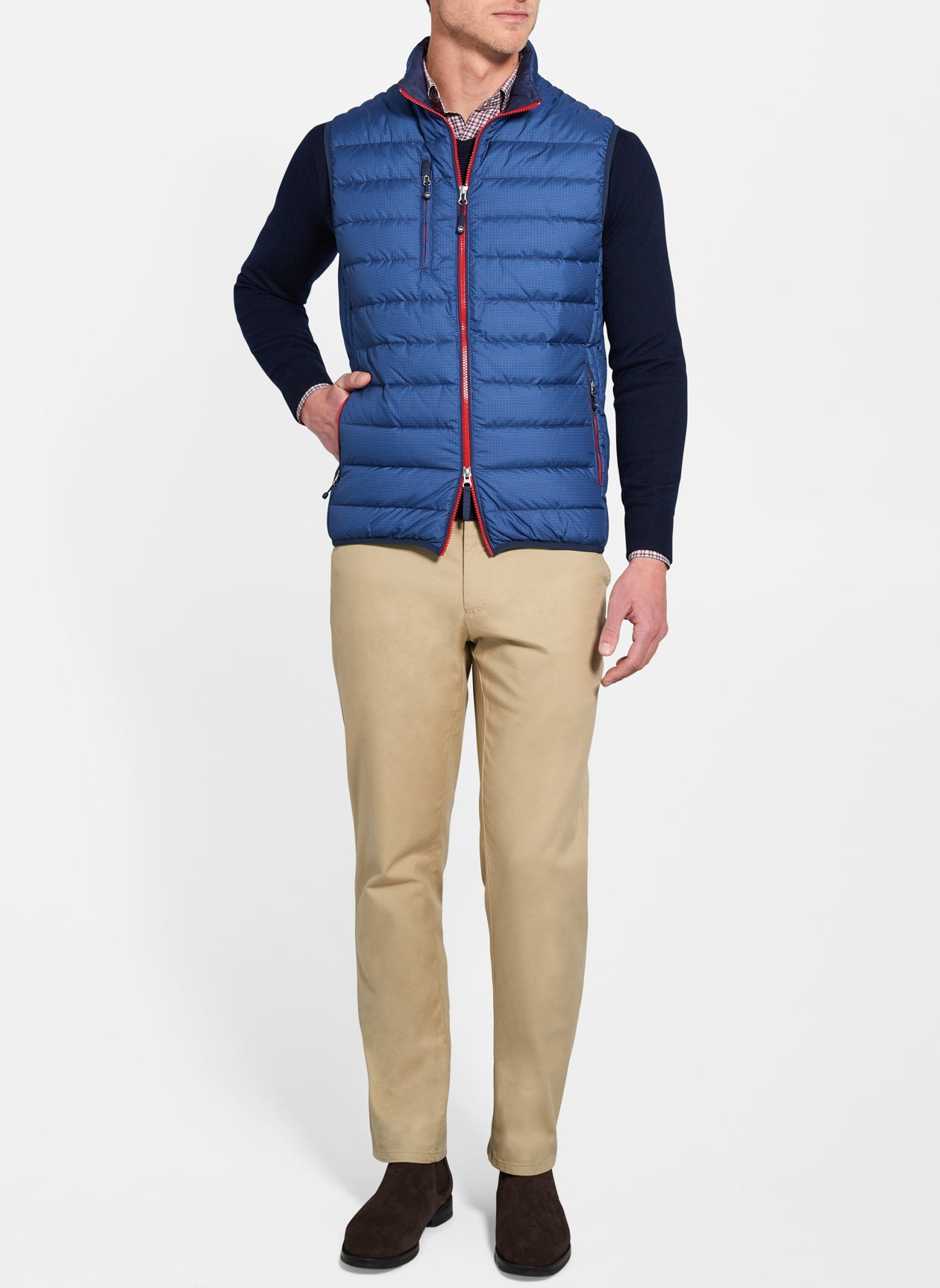 Peter Millar Crown Elite Light Houndstooth Vest