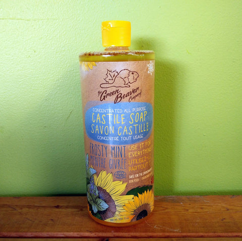 Green Beaver – Sunflower Castile Soap – Frosty Mint (990ml) - V Word Market - Vegan Grocery - Delivered.