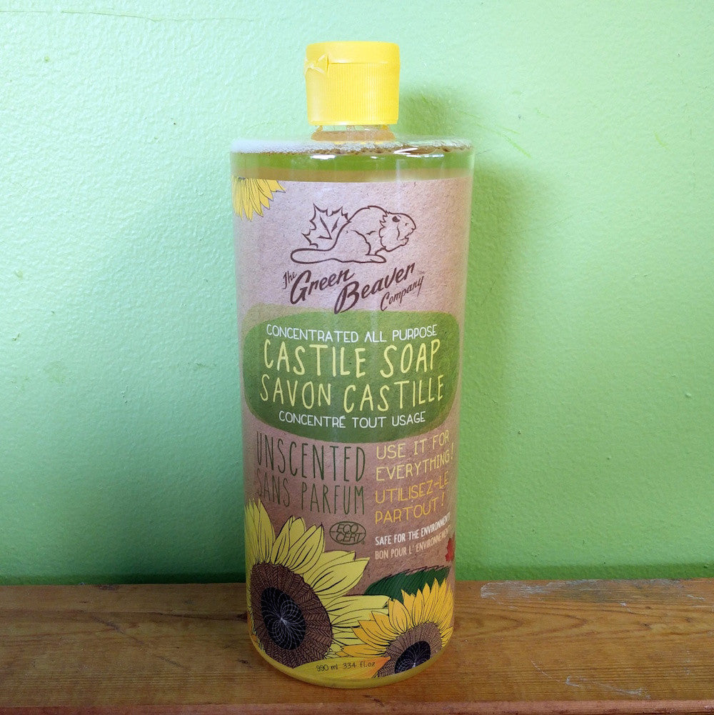 Green Beaver – Sunflower Castile Soap – Unscented (990ml) - V Word Market - Vegan Grocery - Delivered.