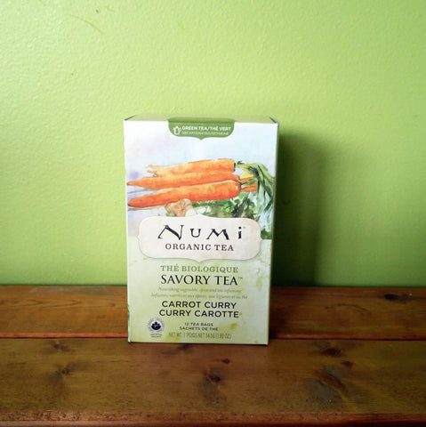 Numi - Organic Savory Carrot Curry tea - V Word Market - Vegan Grocery - Delivered.