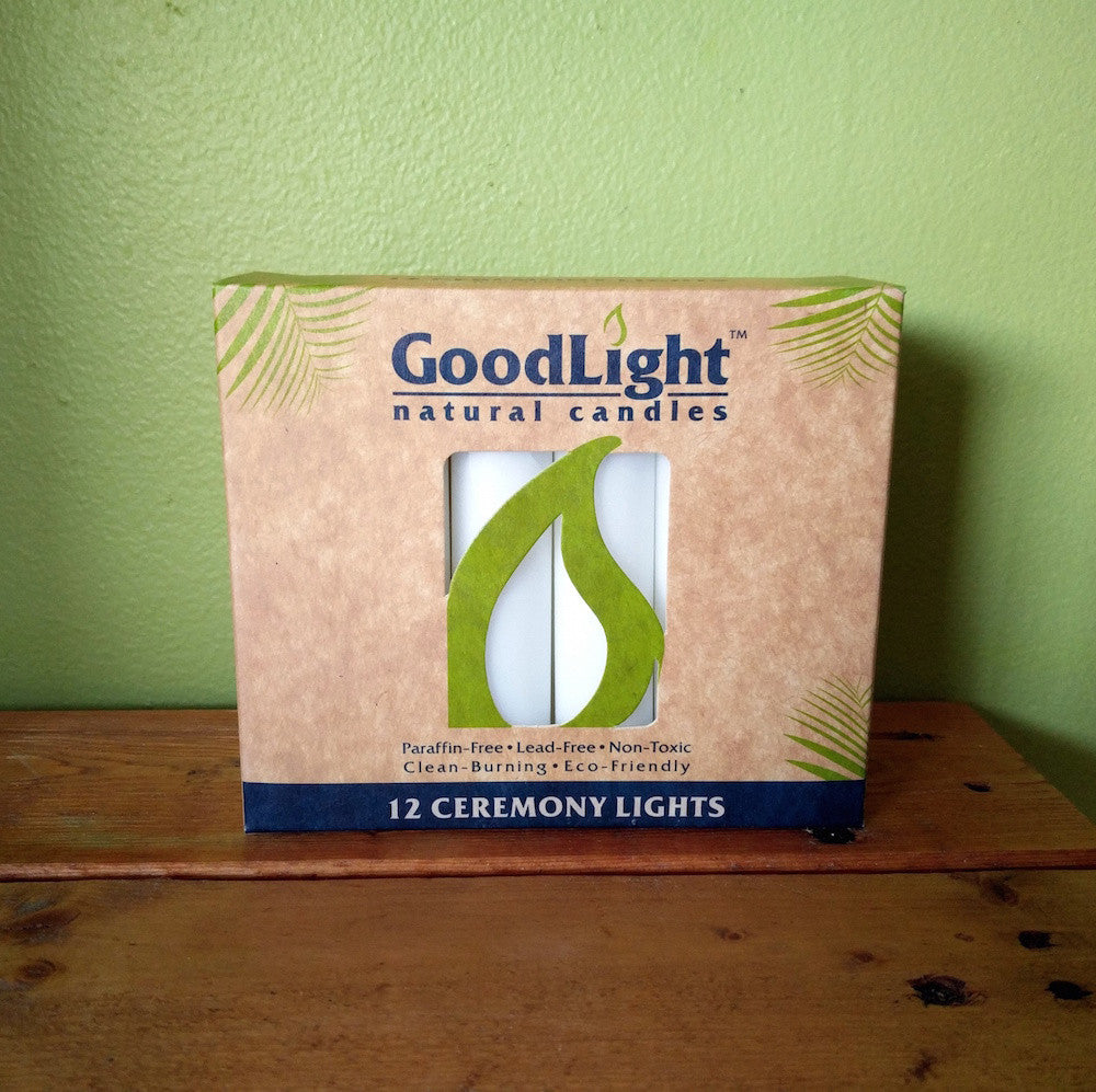 Goodlight - Shabbat/Ceremony/Meditation Lights - (Pack of 12 Candles) - V Word Market - Vegan Grocery - Delivered.