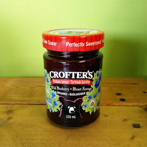 Crofters Organic - Wild Blueberry Spread - V Word Market - Vegan Grocery - Delivered.