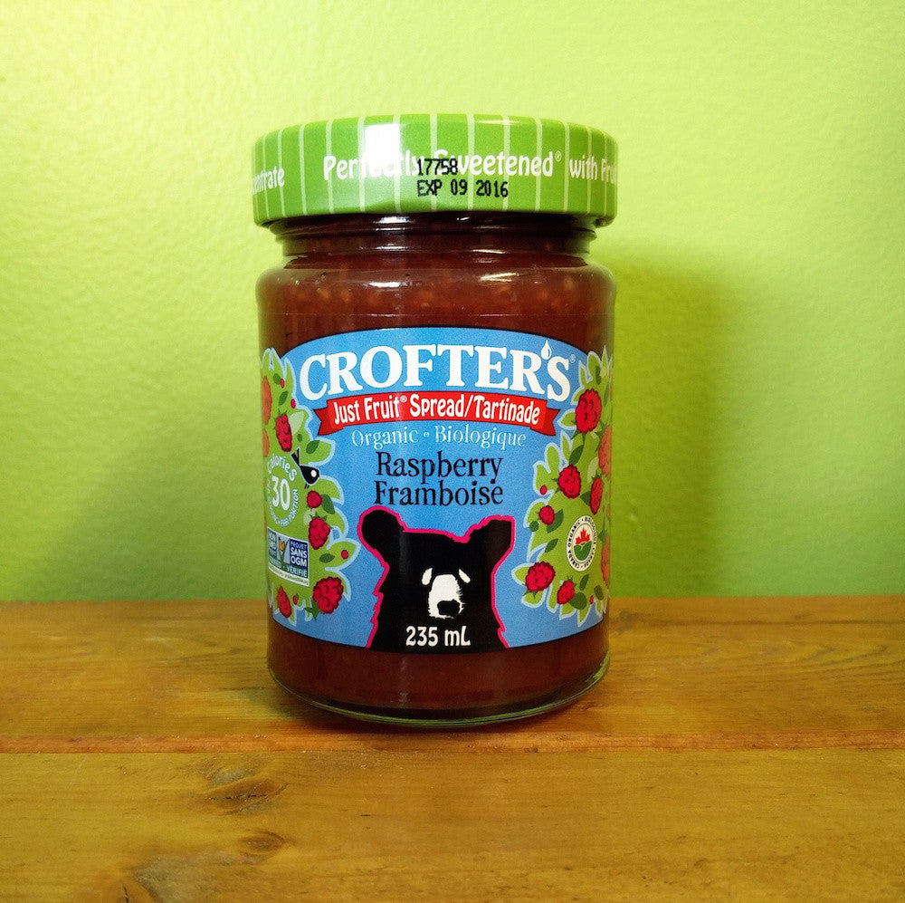Crofters Organic - Raspberry Fruit Spread - V Word Market - Vegan Grocery - Delivered.