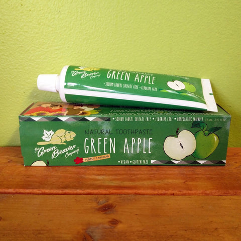 Green Beaver - Green Apple Toothpaste (Organic) - V Word Market - Vegan Grocery - Delivered.
