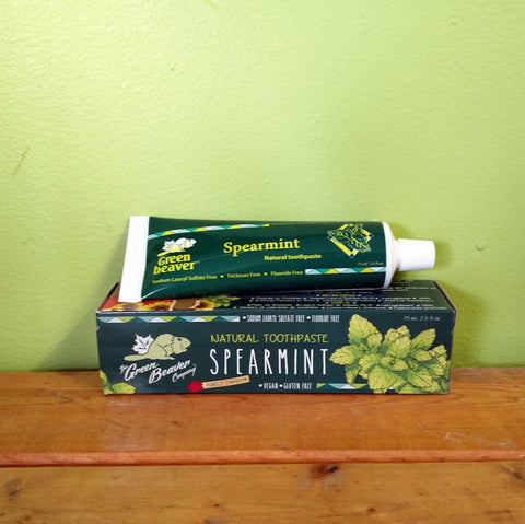 Green Beaver - Spearmint Toothpaste - V Word Market - Vegan Grocery - Delivered.