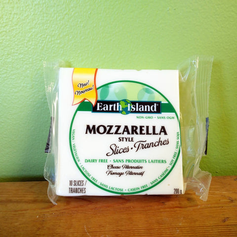 Earth Island - Slices - Mozzarella Style - V Word Market - Vegan Grocery - Delivered. - 1
