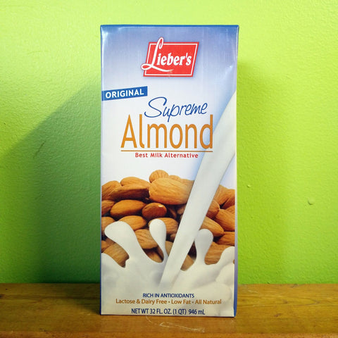 Lieber's - Supreme Almond Milk Original - V Word Market - Vegan Grocery - Delivered.
