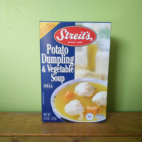 Streit's - Potato Dumpling Soup with Vegetable Soup Mix - V Word Market - Vegan Grocery - Delivered.