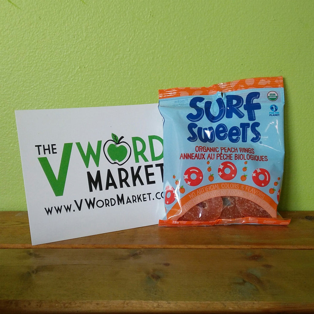 Surf Sweets - Peach Rings - V Word Market - Vegan Grocery - Delivered.