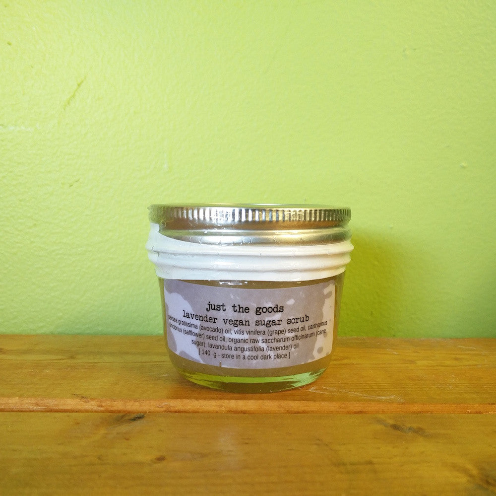 Just the Goods - Vegan Raw Sugar Body Scrub - Lavender (240g) - V Word Market - Vegan Grocery - Delivered.