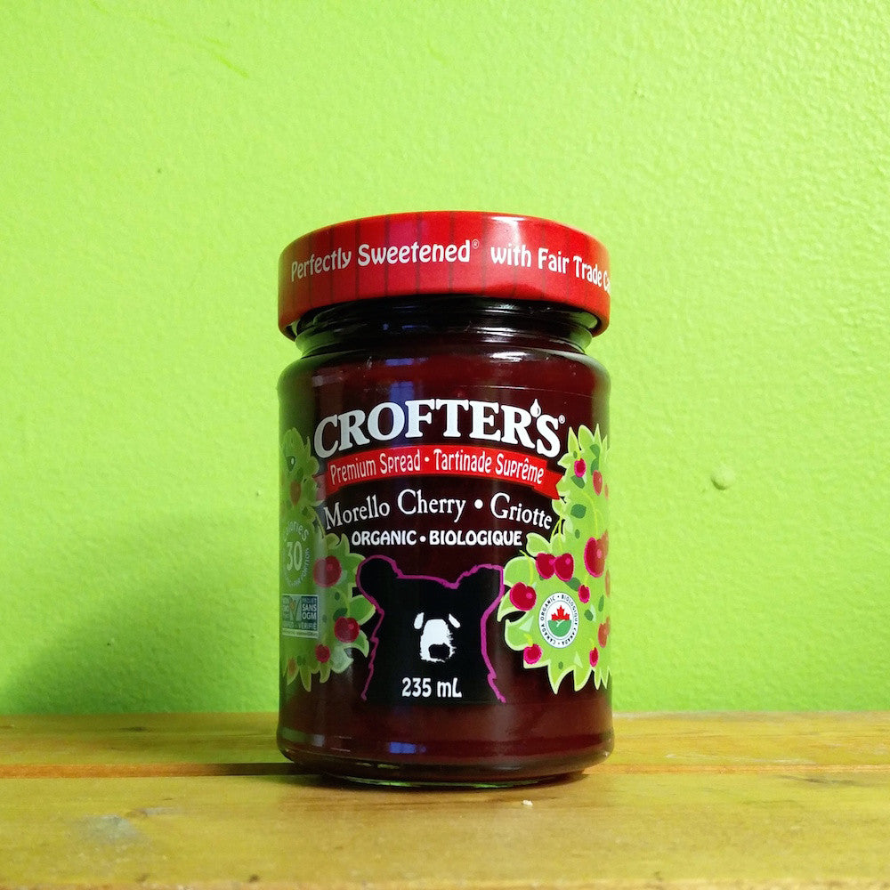 Crofters Organic - Morello Cherry Premium Spread - V Word Market - Vegan Grocery - Delivered.