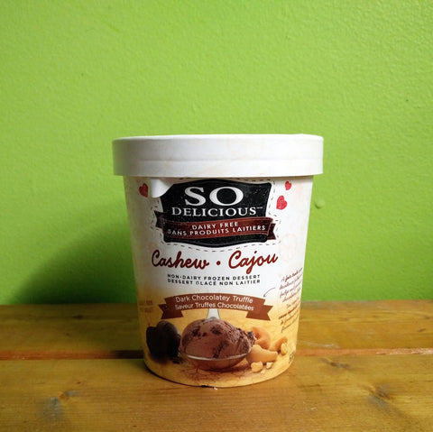 So Delicious - Dark Chocolate Truffle Cashew Frozen Dessert - V Word Market - Vegan Grocery - Delivered.