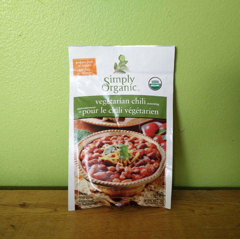 Simply Organic - Veggie Chili Seasoning Mix - V Word Market - Vegan Grocery - Delivered.