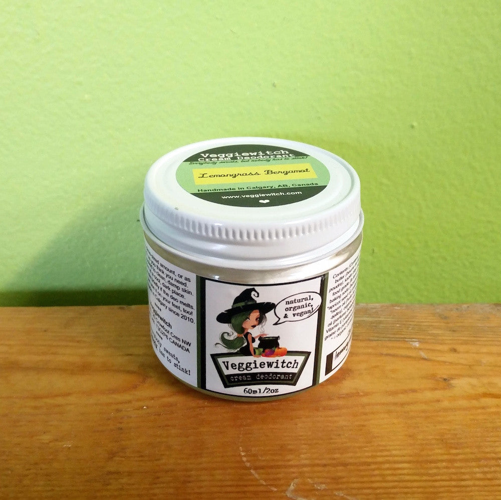 Veggiewitch Vegan Cream Deodorant - Lemongrass Bergamot **CLEARANCE** - V Word Market - Vegan Grocery - Delivered. - 2