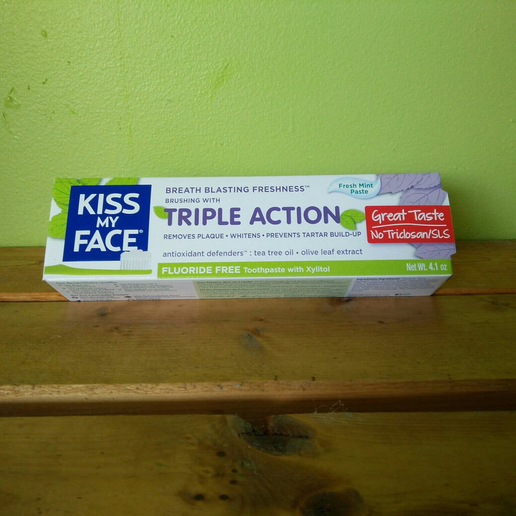 Kiss My Face - Fluoride-free Triple Action Toothpaste with Xylitol - V Word Market - Vegan Grocery - Delivered.