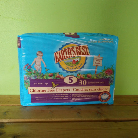 Earth's Best - Chlorine Free Diapers - Size 5 - V Word Market - Vegan Grocery - Delivered.