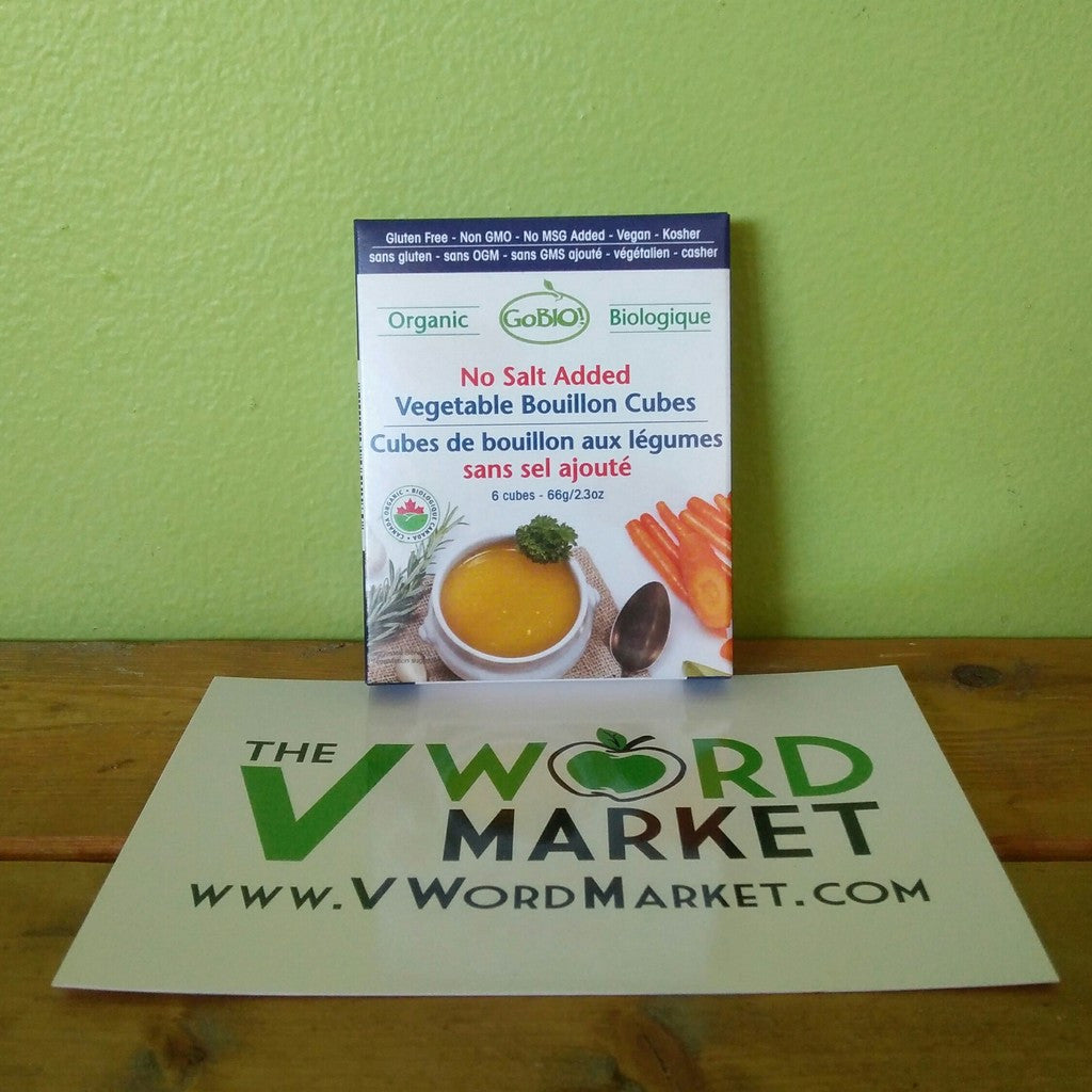 Go-Bio - Organic No Salt Added Vegetable Bouillon Cubes - V Word Market - Vegan Grocery - Delivered.