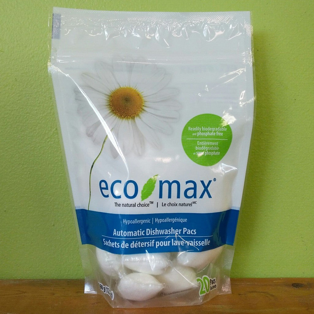 EcoMax - Hypoallergenic Automatic Dishwasher Pacs - V Word Market - Vegan Grocery - Delivered.