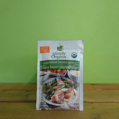 Simply Organic - Vegetarian Brown Gravy Mix - V Word Market - Vegan Grocery - Delivered.