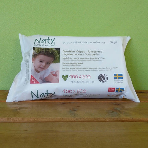 Naty by naturecare Sensitive Unscented Baby Wipes - V Word Market - Vegan Grocery - Delivered.