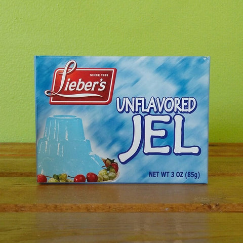 Lieber's - Unflavored Jel (Vegan Gelatin) - V Word Market - Vegan Grocery - Delivered.