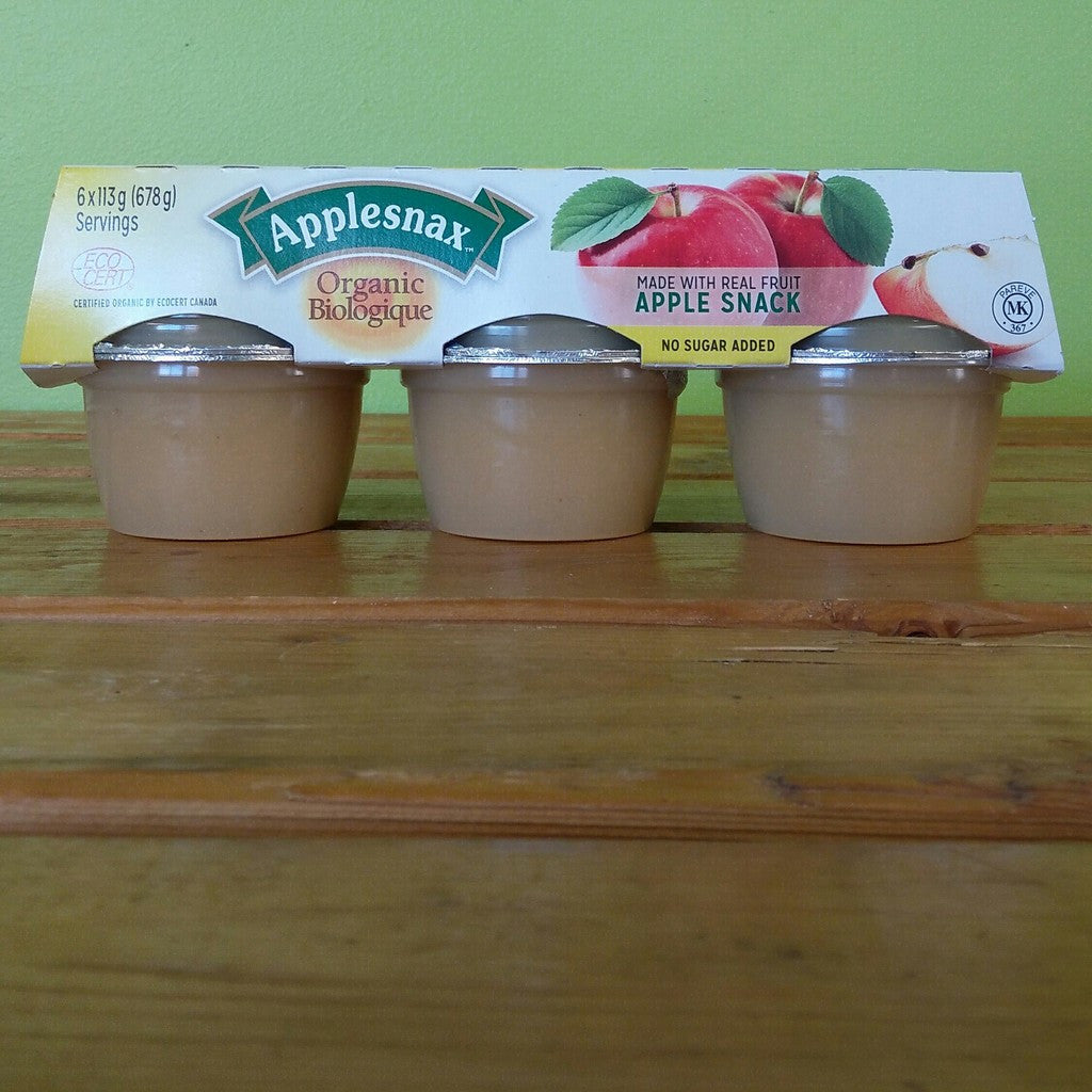 Applesnax - Organic Homestyle Applesauce Cups - V Word Market - Vegan Grocery - Delivered.