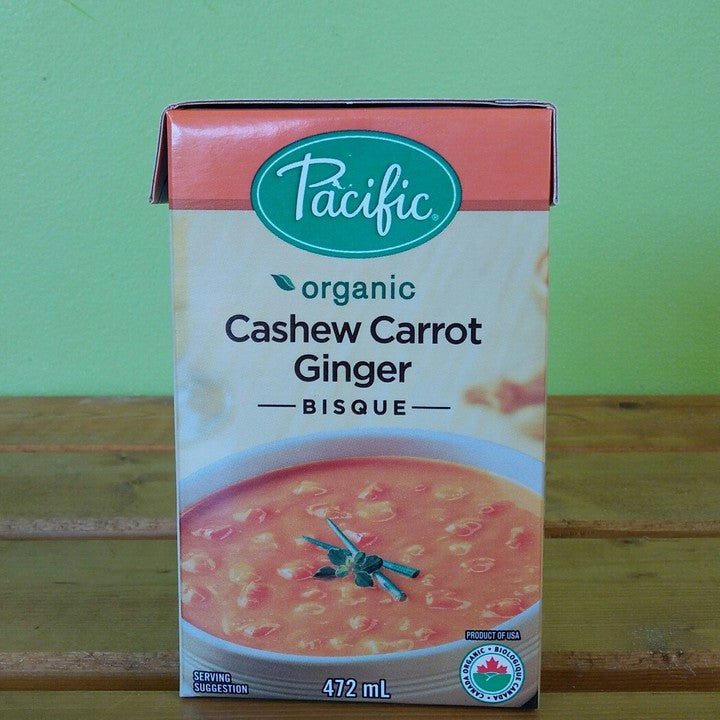 Pacific Foods - Hearty Cashew Carrot Bisque - V Word Market - Vegan Grocery - Delivered.