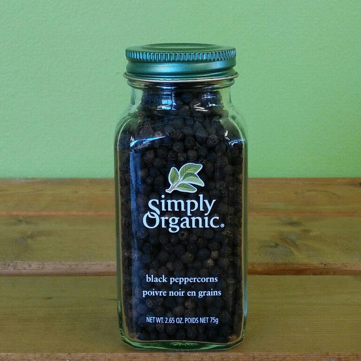 Simply Organic - Black Peppercorns - V Word Market - Vegan Grocery - Delivered. - 2