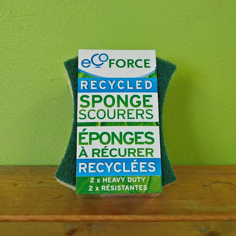 Recycled Sponge Scourer (Green) - V Word Market - Vegan Grocery - Delivered.