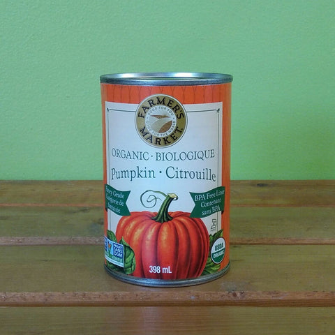 Farmer's Market - Organic Canned Pumpkin Puree (398g) - V Word Market - Vegan Grocery - Delivered.