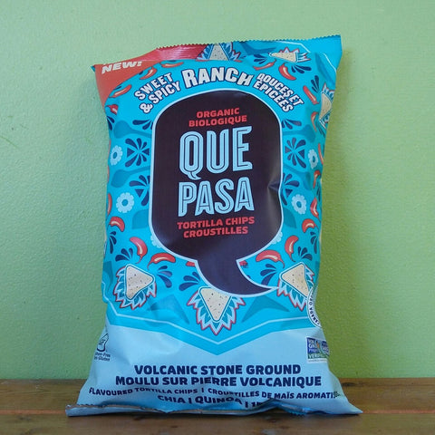 Que Pasa - Sweet & Spicy Ranch Tortilla Chips (156g) - V Word Market - Vegan Grocery - Delivered.