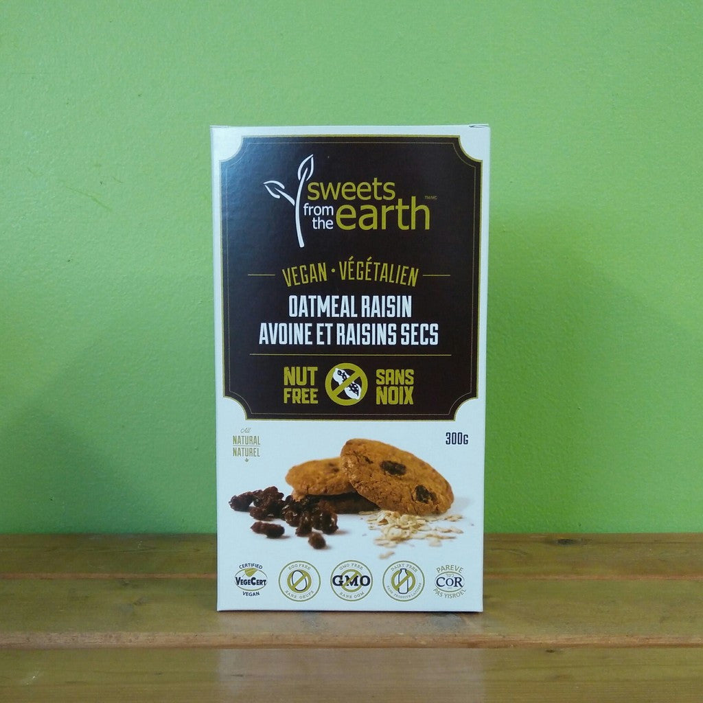 Sweets From The Earth - Cookie Box - Oatmeal Raisin (300g) - V Word Market - Vegan Grocery - Delivered.