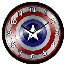 Load image into Gallery viewer, Captain America Shield Analog Wall Clock