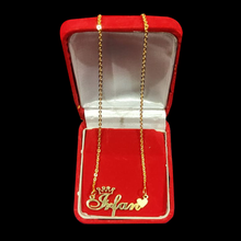 Load image into Gallery viewer, Personalized Name Pendant with Crown and Heart