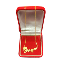 Load image into Gallery viewer, Personalized Crown Shaped Name Pendant