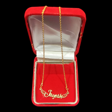 Load image into Gallery viewer, Personalized Angel Wing Shaped Name Pendant