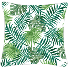 Load image into Gallery viewer, Green Palm Leaf Cushion Cover 16 x 16 Set of 5 Pcs