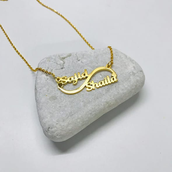 Personalized Double Name Pendant Together