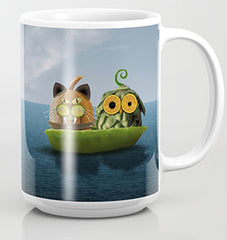 Owl & Cat coffee mug
