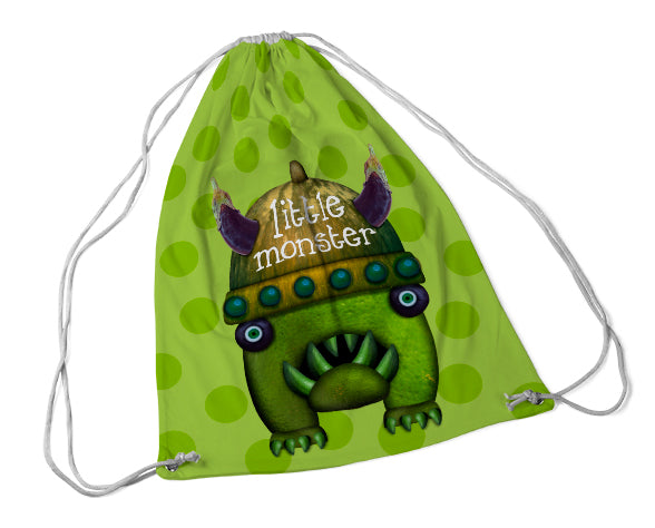 Little monster draw string bag
